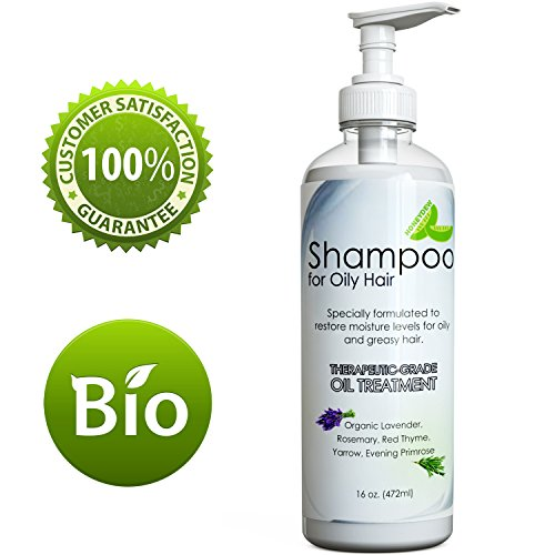 Natural Oily Hair Shampoo with Organic Essential Oil