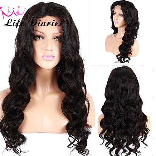 Life Diaries 150% Density Natural Body Wave Silk Top Full Lace Wigs