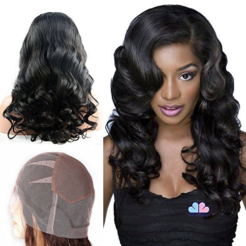 Mike & Mary Top 7A Brazilian Virgin Human Hair Full Lace Wigs for Black Women