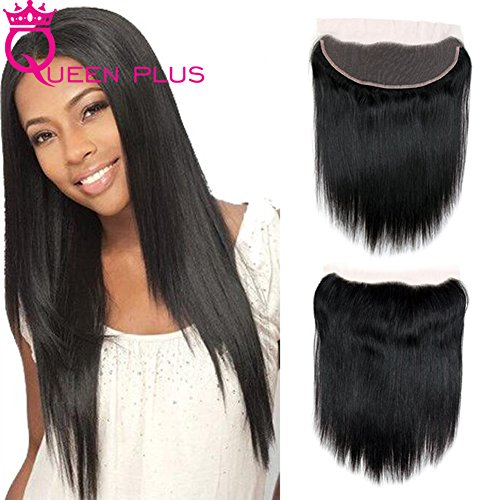 Queen Plus Hair Dyeable Silky Straight Weave 4 Bundles with Handmade Full Lace Frontal Closure